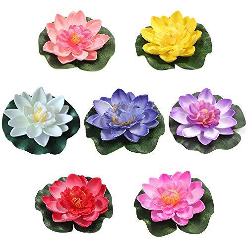 Xkfgcm 7 Stück Schwimmende Blumen...