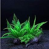 Dulau 2 Stück künstliche Wasserpflanzen, Aquarium Wasserpflanzen, Kunststoff Aquarium Künstliche Pflanze Fisch Tank Dekoration, für Haushaltsbüro Simulation Hydroponische Pflanzen