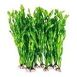 Hezhu 10Stk künstliche Aquariumpflanze Aquarium Deko Pflanzen Wasserpflanzen Aqua Bouquet Plant (Grün)