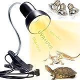Schildkröten Wärmelampe Reptilien Terrarium Lampe, 25W 50W Reptilien Heizlampe UV Wärmespotlampe E27 UVA+UVB Wärmestrahler Aquarium Tiere zubehör für Schildkröte, Eidechse, Schlange,Spinne, Amphibien
