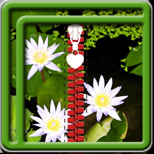 Zipper Lock Screen Lotus